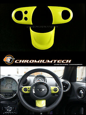 MK2 MINI R55 R56 R57 R58 R59 R60 R61 YELLOW Multi Function Steering Wheel Cover