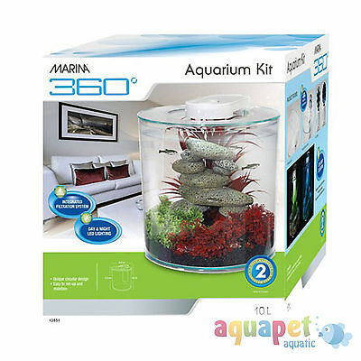 Marina 360 Aquarium 10L Coldwater or Tropical
