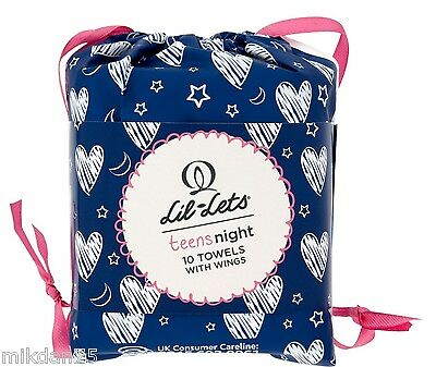 2 x Lil-Lets Teens Ultra Towels with Wings Night 10s