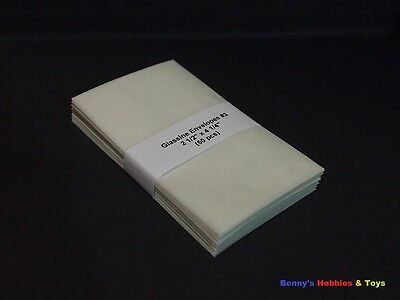 "50 New Glassine Envelopes #3 - 2 1/2"" x 4 1/4"" Stamp Protective Envelopes"