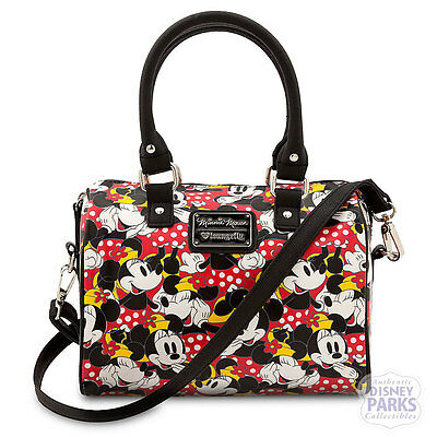 Disney Parks Minnie Mouse Duffle Crossbody Bag by Loungefly Satchel Purse