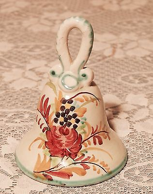 Signed Hand Painted Porcelain Bell Loop Handle
