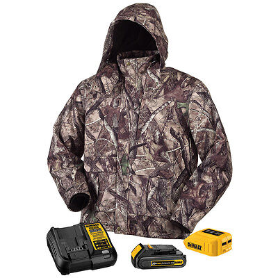 DeWALT DCHJ062 20V True Timber HTC Camo Heated Jacket Kit w/ Battery, Medium