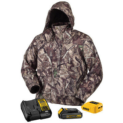 DeWALT DCHJ062 20V True Timber HTC Camo Heated Jacket Kit with Battery, Small
