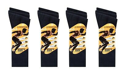 12 Pairs Mens Sports Socks Extra comfort Training Cotton Socks Size 6-11