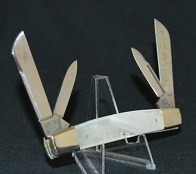 1St Generation Fight'n Rooster Mother Of Pearl Congress Knife No Case Or Box""