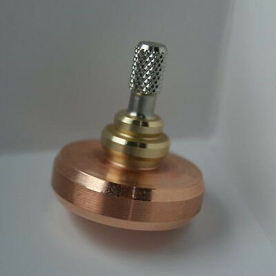 Precision Spinning Top Tri-Color Brass Copper Handmade Accurate Spinning Top