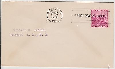 (USO-45) 1938 USA FDC 3c Scandinavian settlement letter to Peconic NY(45AS)