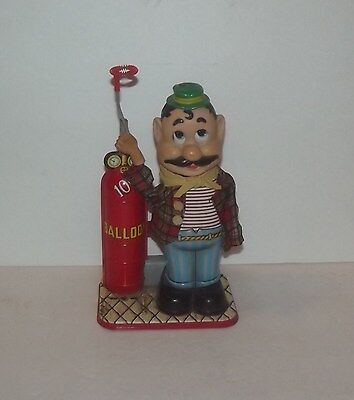 Vintage Rosko Toys Battery Operated Balloon Man Bubble Blower