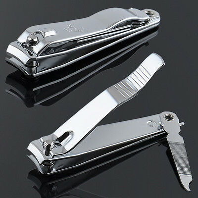 Hot Stainless Steel Finger Toe Nail Clipper Cutter Trimmer ManicurePedicure Tool