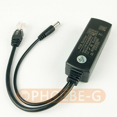 4pcs Active PoE Splitter Power Over Ethernet 48V to 12V 2A for IEEE802.3at 24W