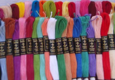 50 Anchor Cross Stitch Stranded Cotton Embroidery Thread Floss - FREE POSTAGE