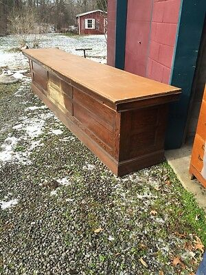 Br Antique All Oak 12 Foot Store Counter