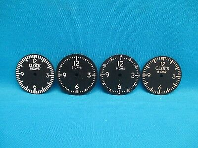 Lot of Four 8 Day Mechanical Clock Faces Dials Face (16280)