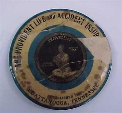Early 1900's Celluloid Advertising Pocket Mirror THE PROVIDENT LIFE INSURANCE CO