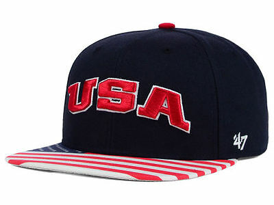 """Unisex American Flag """"USA Snapback Cap - One Size Fits All, Adjustable Hat, NEW"""