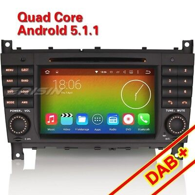 """7""""Android 5.1 Car DVD Player For Mercedes Benz C/CLK Class W203 W209 DAB+ 4508CU"""