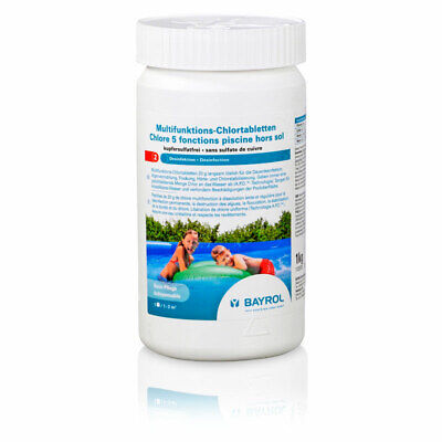 Multifunktions-Chlortabletten 5 in 1 (20 g) 1,0 kg - Quick-Up Pools BAYROL Chlor