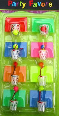 Kids Party Favors Pack 8 x Mini Basketball Games New Cheap Novelty Toys