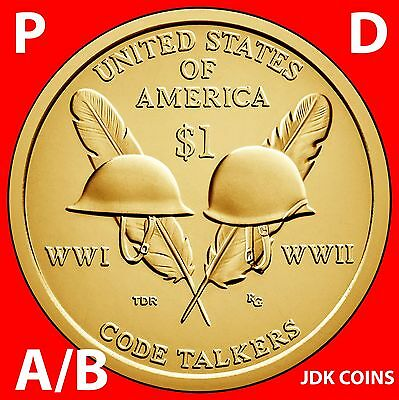 2016 P&d Position A & B - Sacagawea Native American Dollar Uncirculated Set
