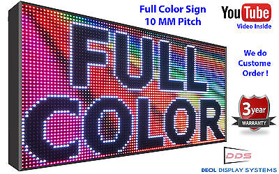 "18"" x37"" Led Sign Full Color Indoor Programmable Scrolling message Digital 10mm"