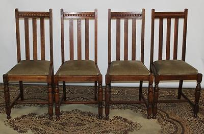 Set of 4 Vintage Oak Dining Chairs - FREE Delivery [PL1873]
