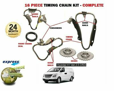 For Hyundai H1 2.5 Crdi Van D4Cb 2001-> New Timing Chain Kit 16 Piece Complete