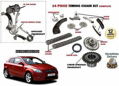 For Kia Proceed 1.6 Crdi D4Fb 2008-2012 New Timing Chain + Gears + Sprocket Kit