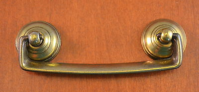 "ANTIQUE Keeler Brass Furniture Pull  Holes 3 1/2"" Apart ""Quality"" SHINY Ends"