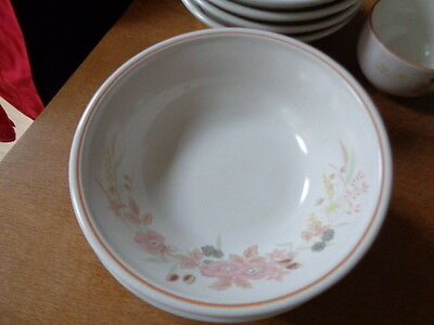 Boots Hedge Rose Cereal Bowls X 4