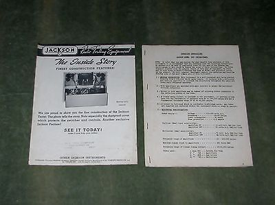 Jackson Model 523 Oscillograph Operating Instructions