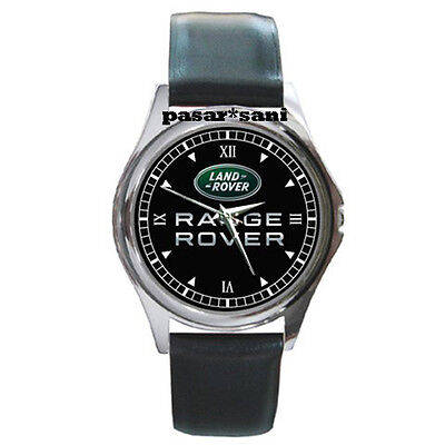 NEW LAND ROVER RANGE ROVER Custom Round Metal Leather Men's Watch Watches