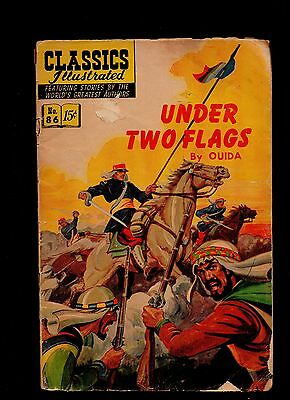 Classics Illustrated #86 Poor  Hrn167 (Under Two Flags) Ouida