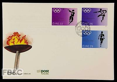 1984 Los Angeles Olympics Irish Cover - 3 Stamps