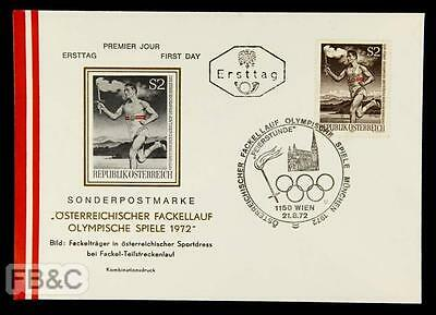 1972 Munich Olympics Austrian First Day Cover - Vienna Cancel