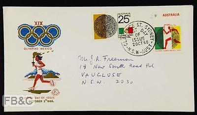 1968 Mexico City Olympics Australian Cover - Clarence Street Cancel Torch Relay