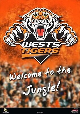 NRL - Wests Tigers - Logo POSTER 61x91cm NEW * Welcome to the Jungle