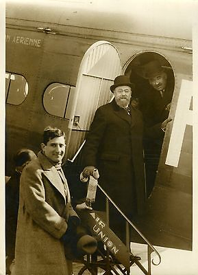 """Mr GUERNIER au BOURGET sur AIR UNION"" Photo originale G. DEVRED (Agce ROL) 1932"