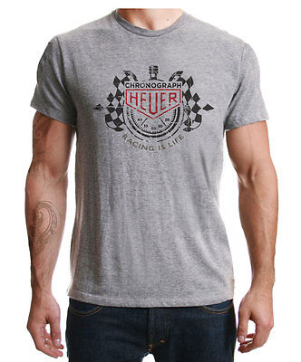 Racing Is Life Tag Heuer  Classic Distressed Print Sport Grey l T-Shirt