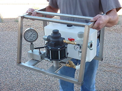 AirHydro Portable Air Operated High Pressure Hydrostatic Test Pump - 25,000 PSI