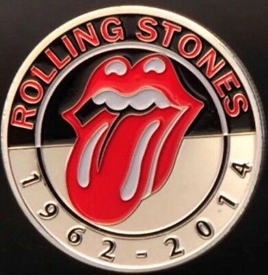 Rolling Stones Coin Finished In Silver .999 1oz 40mm x 3mm Plated Medallion 2014