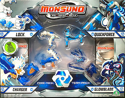 Monsuno Core-Tech 4 x Pack Lock, Charger, Glowblade & Quickforce