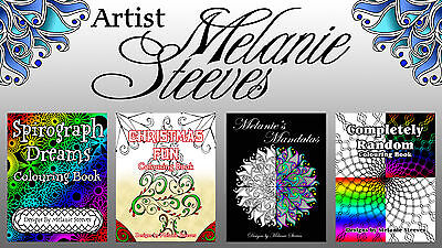 4 Adult Colouring (Coloring) Books  75 Total Designs - PDF File Download