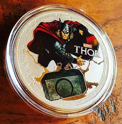 Marvel THOR Challenge Collectable Avengers Medallion Challenge Finished  Silver