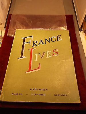 """Rare Old Vtg Early Post Wwii Era Book/magazine (Large) """"france Lives"""", See Pics"""