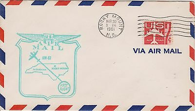 (USO-267) 1961 USA 7c air mail 1st flight to the Rocky Mountains (267JB)
