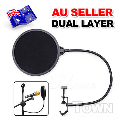 Double Layer Recording Pop Studio Microphone Filter Mask Wind Screen Shield