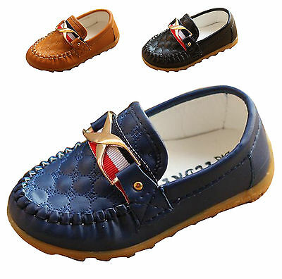 Fashion Kid Boy Girl Loafers Toddler Slip on Moccasin Shoes Casual Flat Sneakers