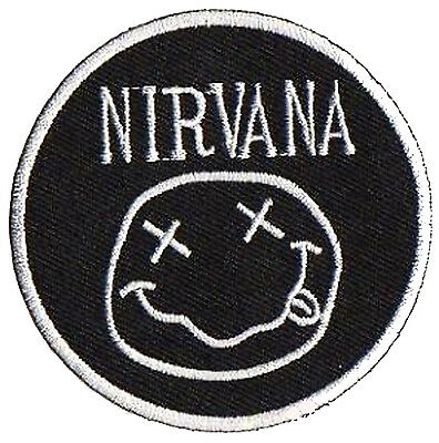 Patche écusson Nirvana transfert grunge thermocollant patch brodé