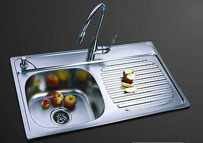 Kitchen Sink 1 bowl - Stainless Steel, 1000ARS (Right hand bowl- Satin finish)
